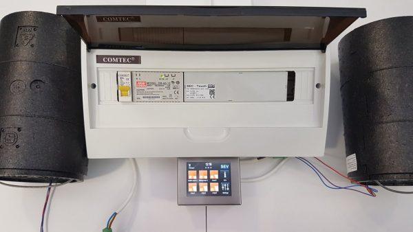 Automatizare Touch pentru sistem ventilatie Sevi160