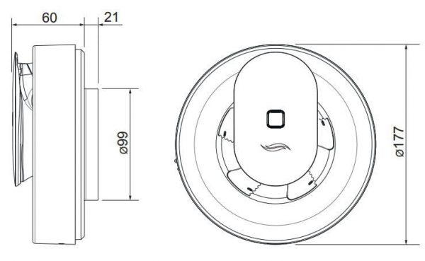 Ventilator baie inteligent Pulsar, cu aplicatia