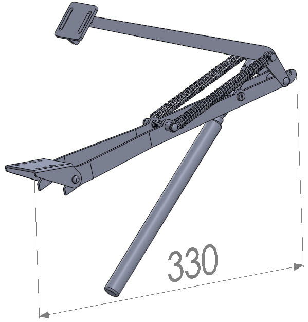 Univent® Negru actuator deschidere fereastra sera automat hidraulic