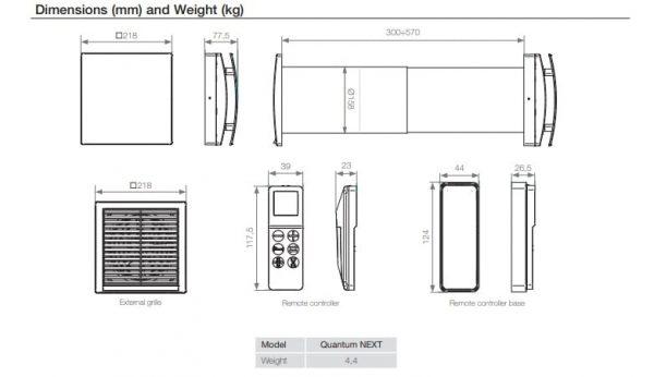 Sistem ventilatie descentralizat Aerauliqa Quantum Next Ventilator kit complet