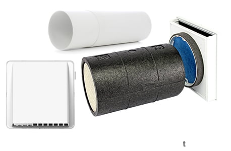 Sevi160 Standard ventilator cu recuperator de caldura