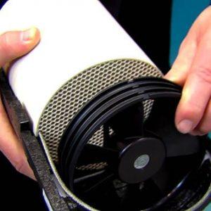 Curӑțarea sistemului de ventilație descentralizatӑ cu recuperator de cӑldurӑ