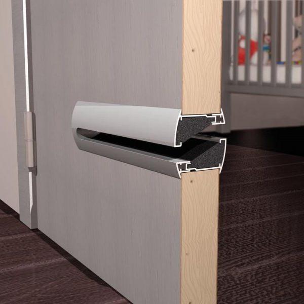 Grila ventilatie usa, Renson, Silendo, cu atenuare fonica, 425 x 48 mm