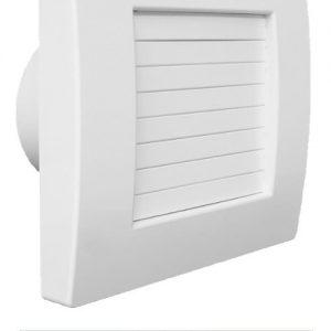 Ventilator baie QA 120 HT BB cu jaluzele automate,  cu senzor de umiditate si timer