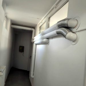 montare tubulaturi ventilatie cabinet stomatologic inventer