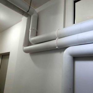 montare tubulaturi ventilatie cabinet stomatologic pax eos