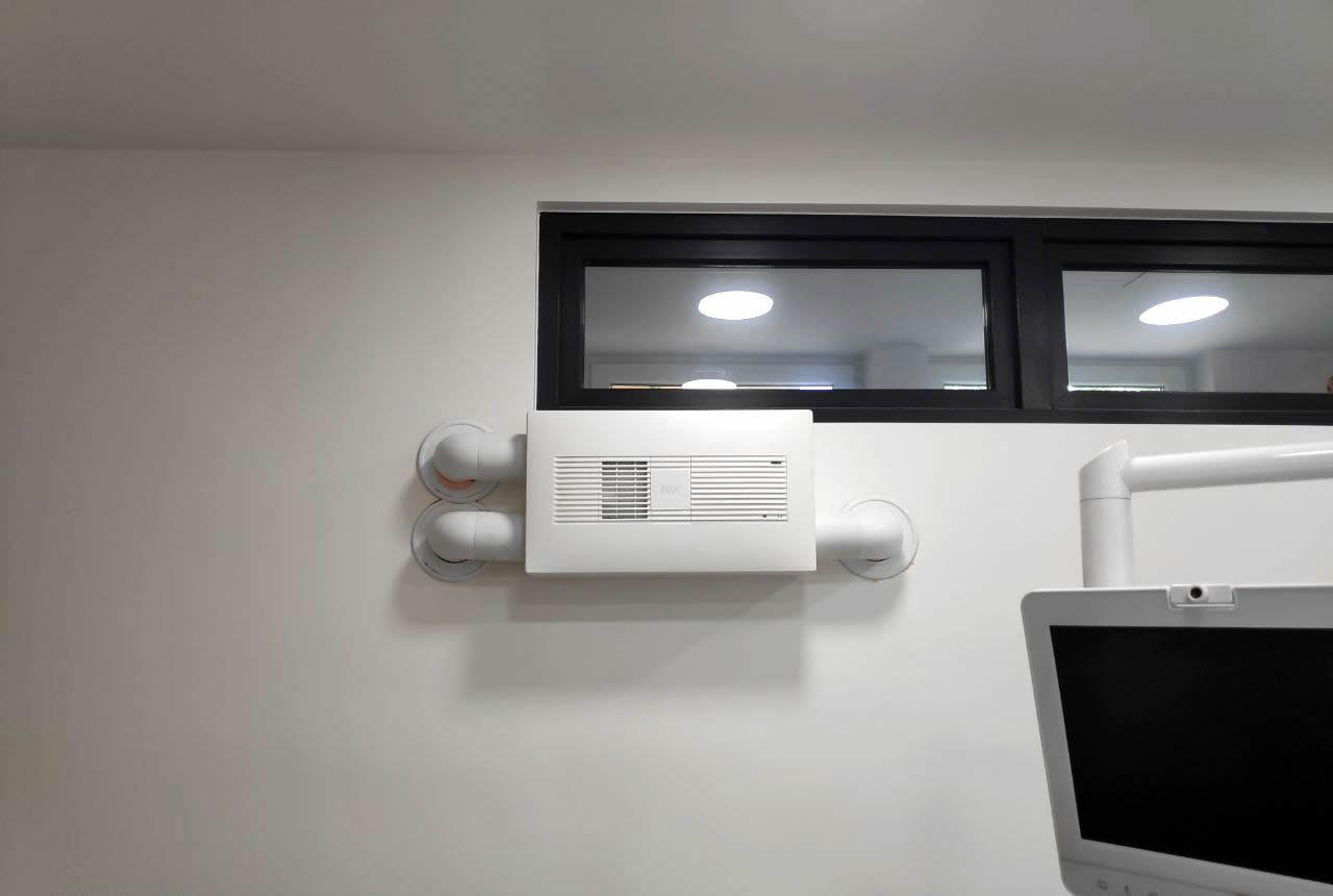 montare ventilare cabinet stomatologic pax eos