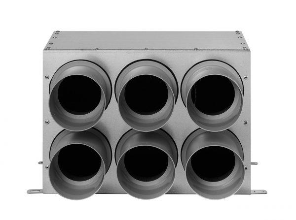 Distribuitor Komfovent inline D160 75×6, izolat