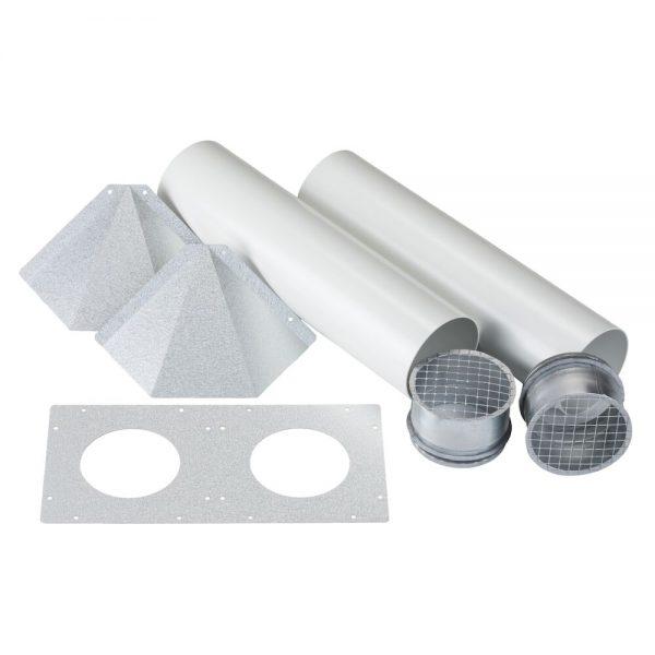Eos 100H kit perete extern tubulatura ventilatie